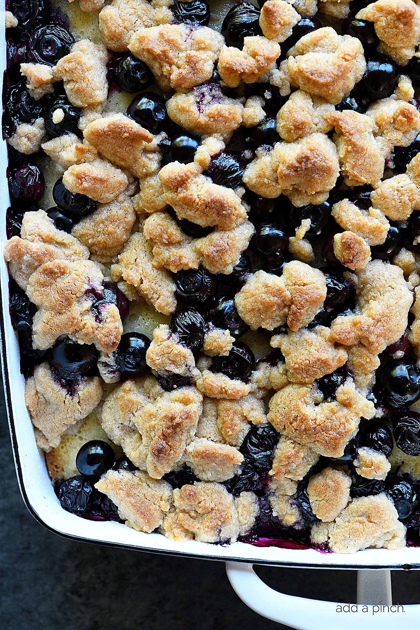 blueberry coffee cake recipe with crumb topping add a pinch