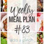 Weekly Meal Plan #83