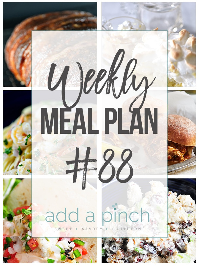 weekly meal plan 88 add a pinch