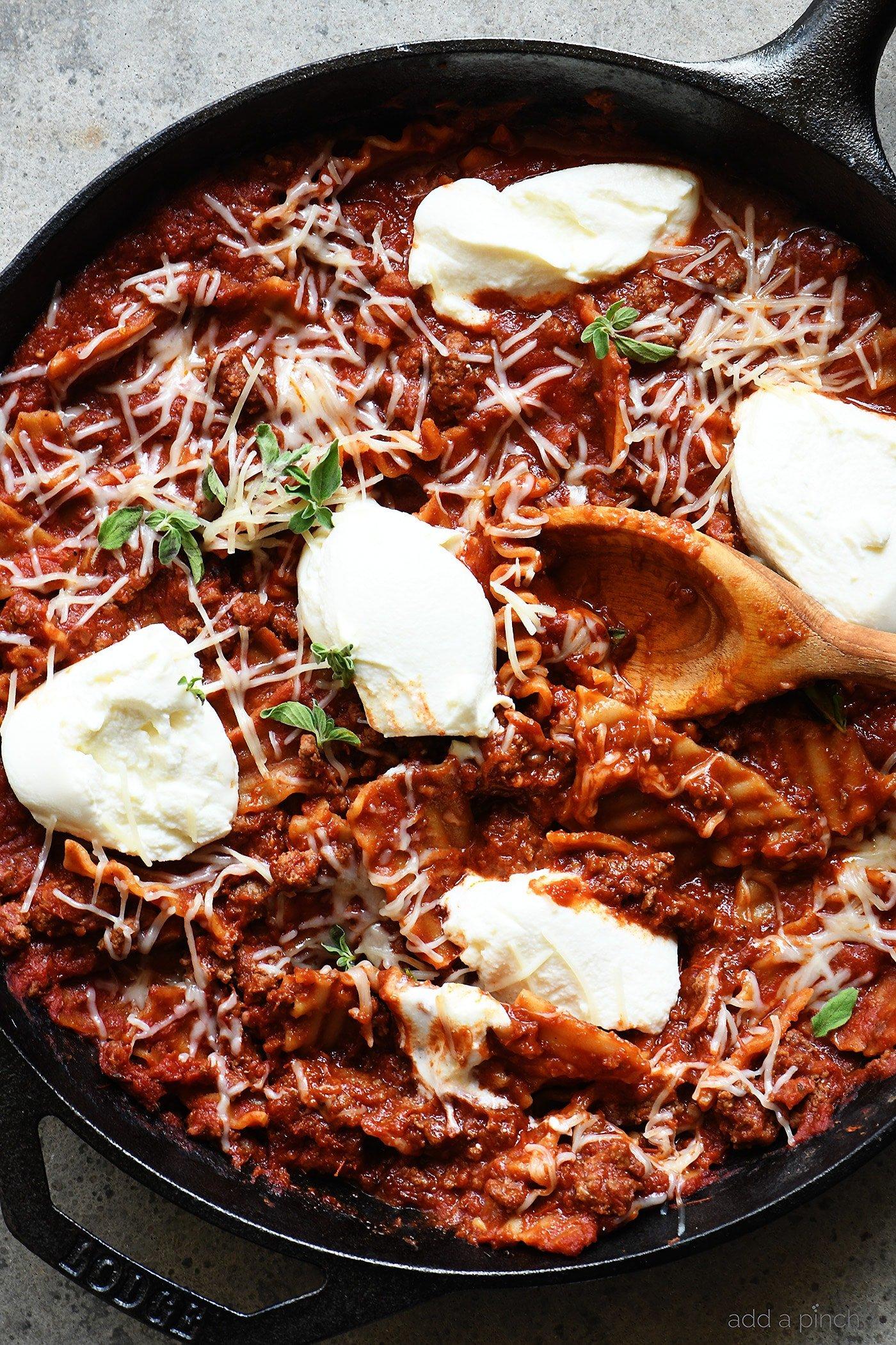 Skillet Lasagna Recipe Add A Pinch