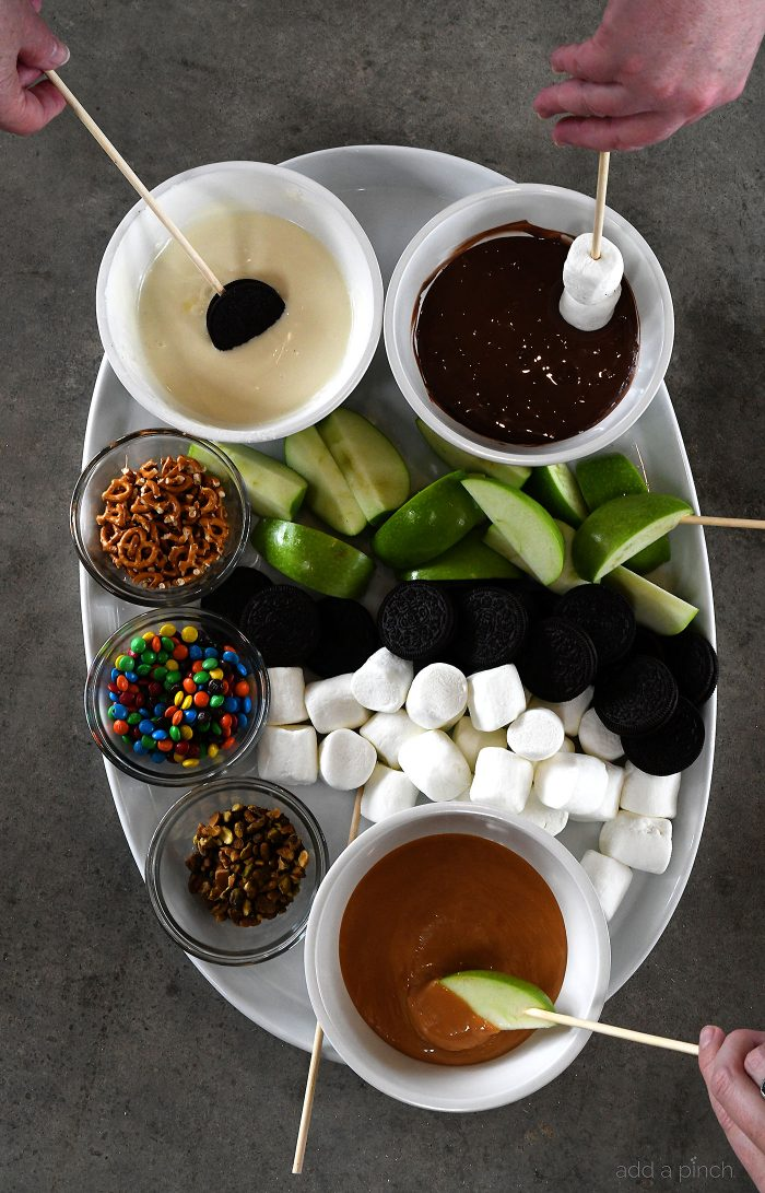 Easy Dessert Board Recipe - The quick and easy dessert board is the perfect thing to pull together for a fun get together with friends and family! Include a little something for everyone! // addapinch.com