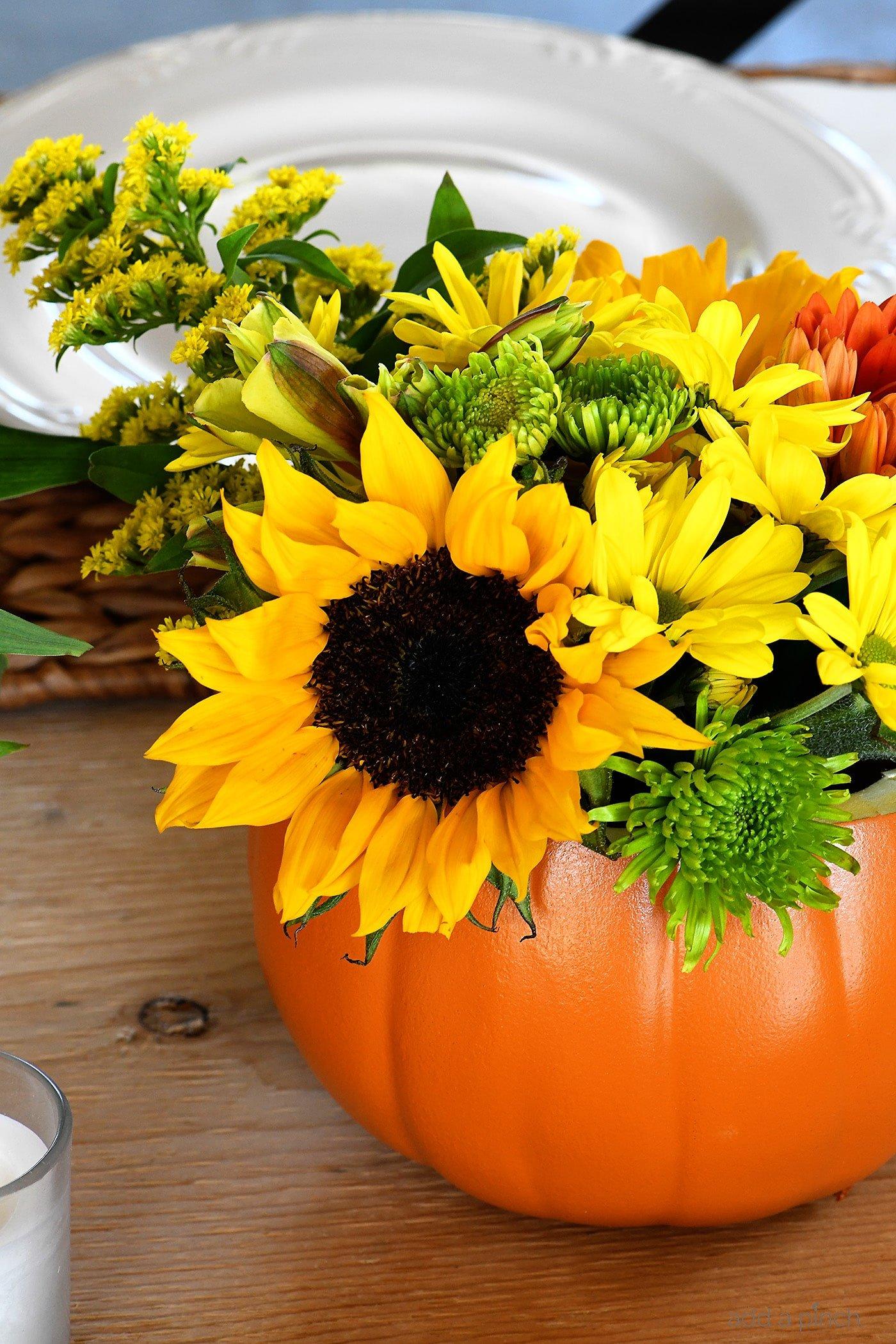 Simple Fall Floral Arrangements Add A Pinch