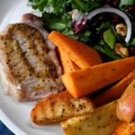 Sheet Pan Pork Chops with Sweet Potatoes and Apples Recipe