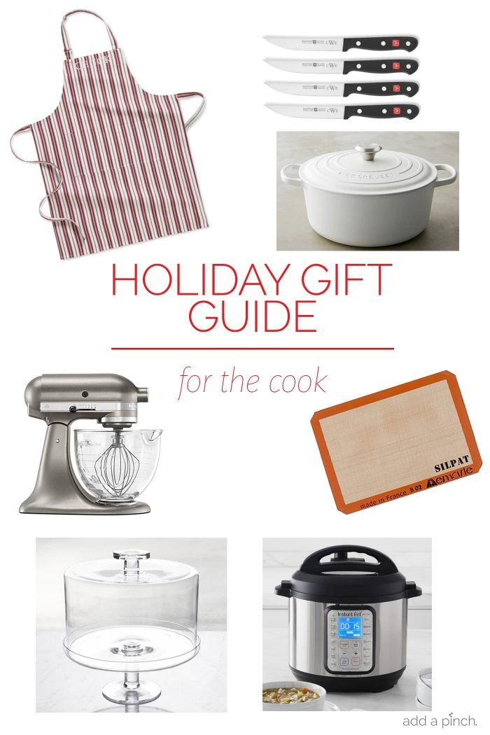Holiday Gift Guide for the Cook – Our 2018 holiday gift guide includes the best gift ideas for the cook! Filled with mixers, blenders, and heirloom Dutch ovens there is something they are sure to love on this list! // addapinch.com