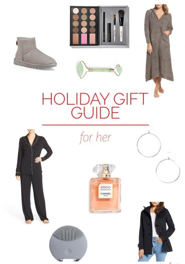 Holiday Gift Guide for Her - Our 2018 holiday gift guide is perfect for all of the special women in your life! Filled with cozy robes, snuggly pajamas, sentimental jewelry and so much more! // addapinch.com