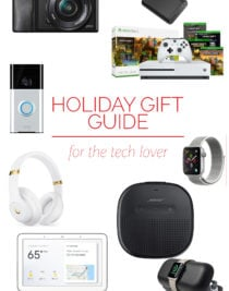 Holiday Gift Guide: for the Tech Lover – Our 2018 holiday gift guide includes the must-have gifts for the tech lover! Filled with cameras, headphones, gaming systems and so much more! // addapinch.com