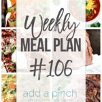 Weekly Meal Plan #106
