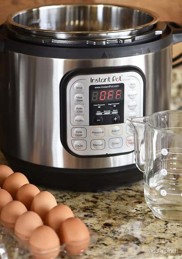 Perfect Instant Pot Eggs Recipe (Soft and Hard Boiled) – Make perfect hard boiled eggs and soft boiled eggs that are easy to peel every time. // addapinch.com