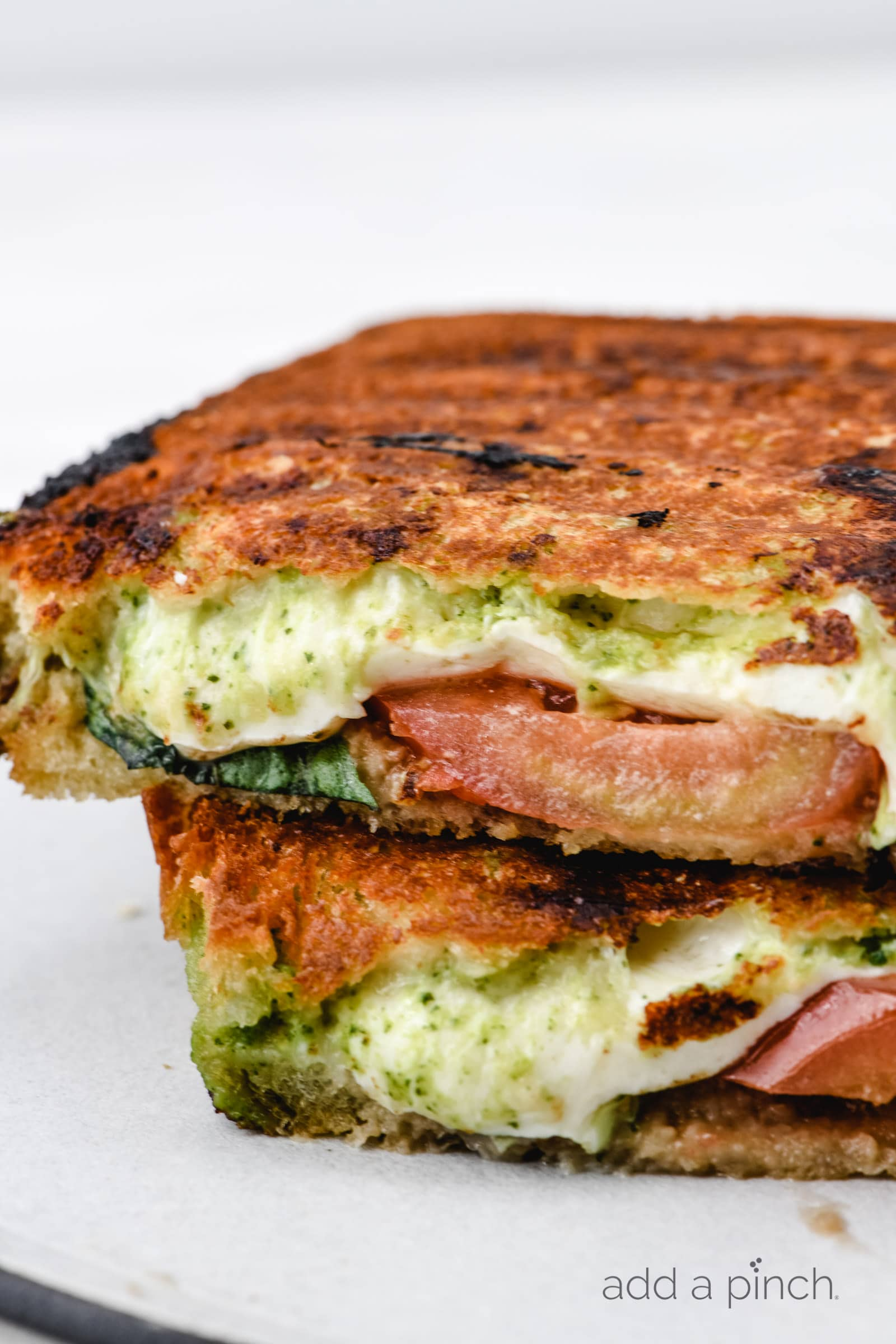 Caprese Grilled Cheese Sandwich Recipe Add A Pinch