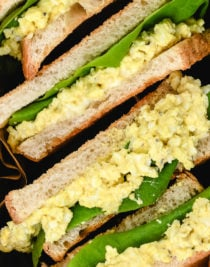 Egg Salad Sandwich Recipe - This classic egg salad sandwich recipe makes the best sandwich recipe! Light, creamy and delicious it makes the perfect quick and easy lunch or light supper.  // addapinch.com