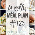 Weekly Meal Plan #125