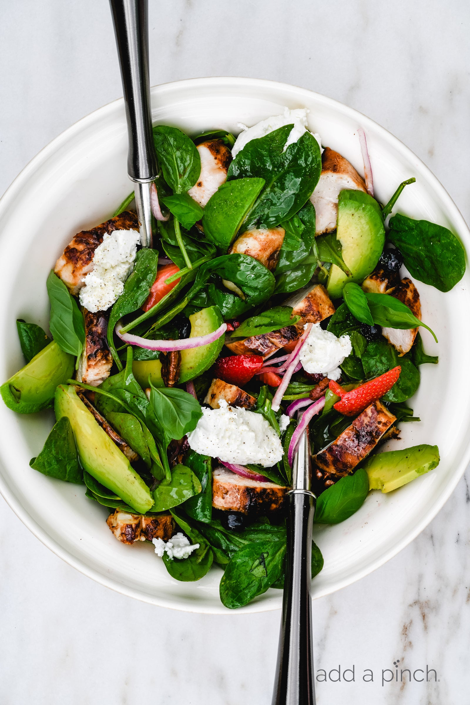 Grilled Chicken Strawberry Spinach Salad Recipe Add A Pinch