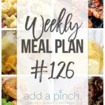 Weekly Meal Plan #126