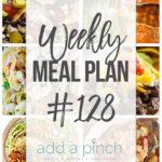 Weekly Meal Plan #128