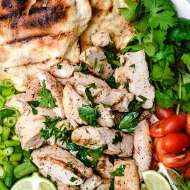 Easy Cilantro Lime Grilled Chicken recipe is quick to make for a meal that is juicy and full of flavor. // addapinch.com