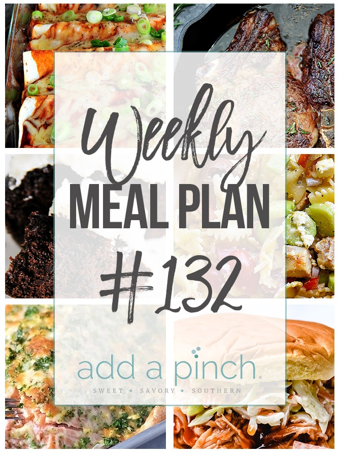 Weekly Meal Plan #132