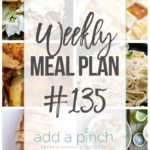 Weekly Meal Plan #135
