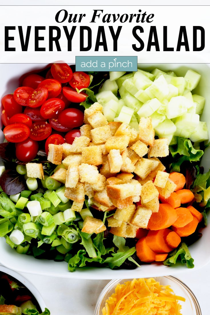 House Salad photo with text - addapinch.com