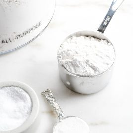 Self-rising flour is a staple ingredient in so many southern recipes! Learn how to make your own self-rising flour with this quick and easy substitution recipe. All you need are 3 simple ingredients! // addapinch.com