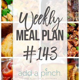 Weekly Meal Plan Collage #143 Pics of six recipes
