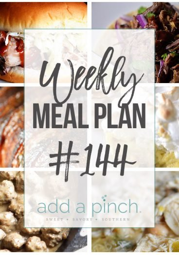 Weekly Meal Plan #144 - Sharing our Weekly Meal Plan with make-ahead tips, freezer instructions, and ways to make supper even easier! //addapinch.com