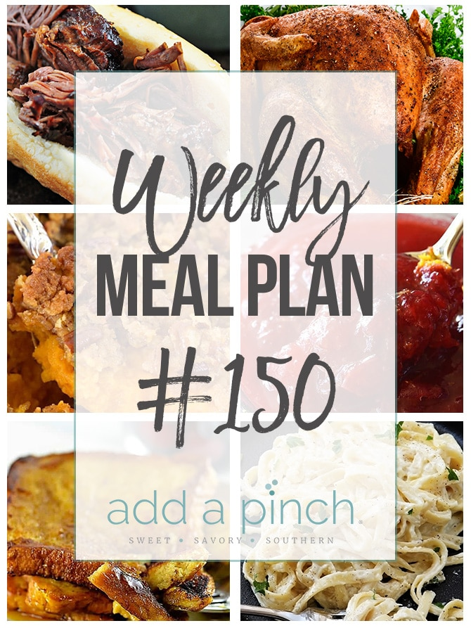 Weekly Meal Plan #150 Collage