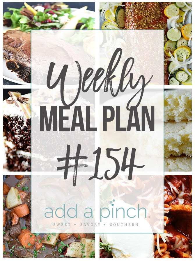 Weekly Meal Plan #154 from addapinch.com