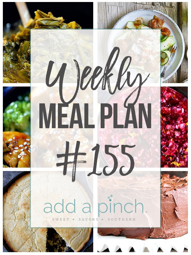 Weekly Meal Plan #155 from addapinch.com