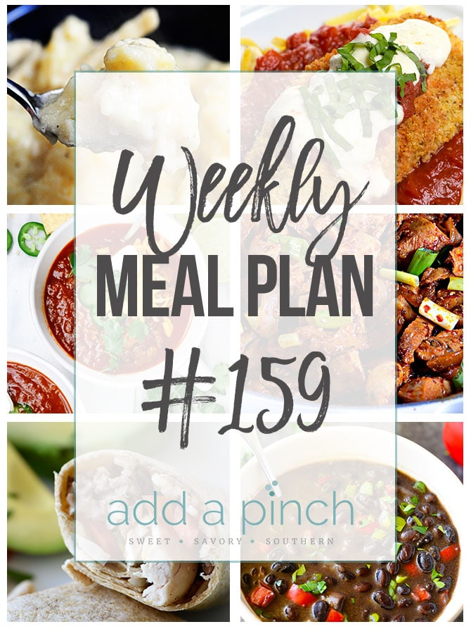 Weekly Meal Plan #159 from addapinch.com