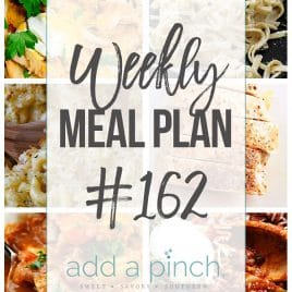 Weekly Meal Plan #162 from addapinch.com