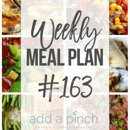 Weekly Meal Plan #163 from addapinch.com