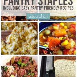 Pantry Staples Collage - addapinch.com